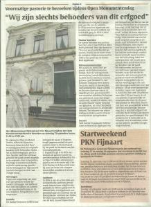 artikel Fendert Lokaal 9 september 2014